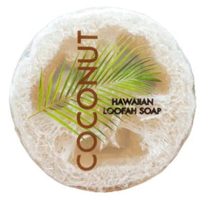 Sea Salt & Kukui Exfoliating Loofah Soap - Coconut