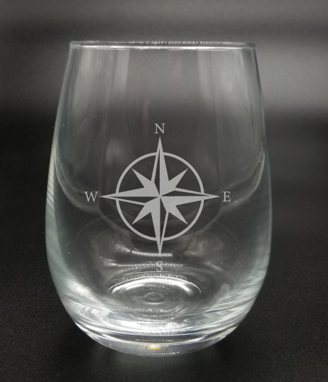 Compass - Etched Glass
