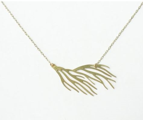 Coral Branch Necklace | Brass