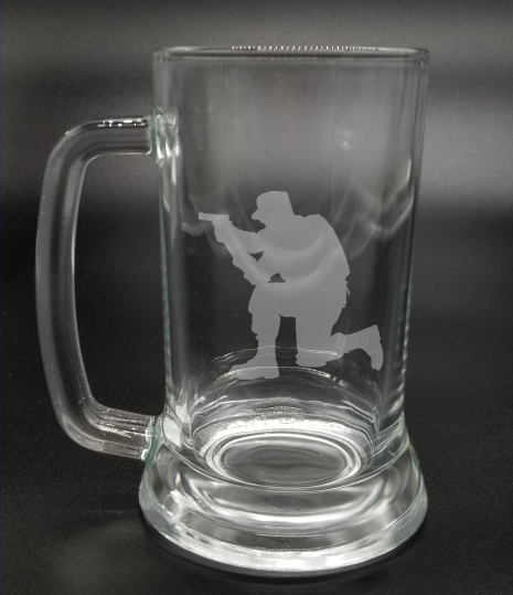 Crouched Solder - Etched Glass