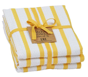 Daffodil Stripe Heavyweight Dishtowel - Set of 3