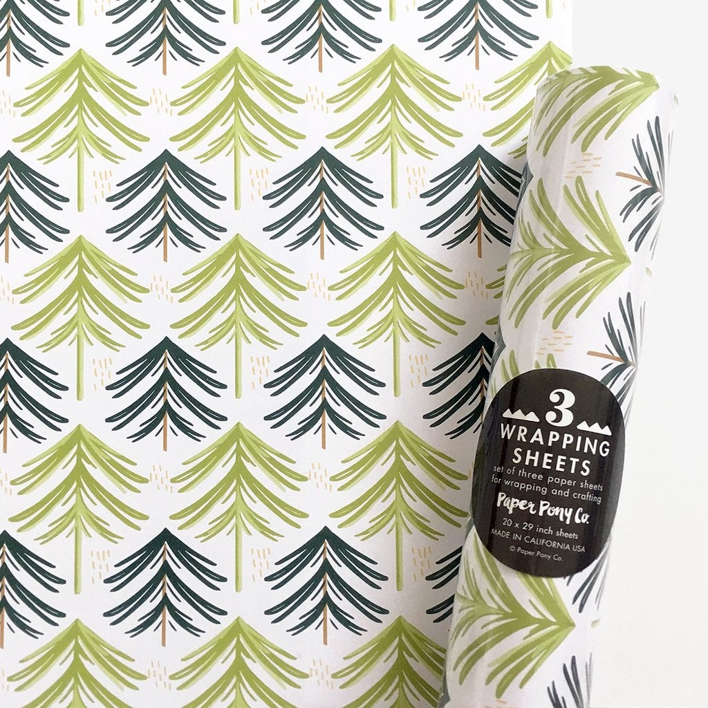 Evergreen Forest Gift Wrap | 3 Sheets