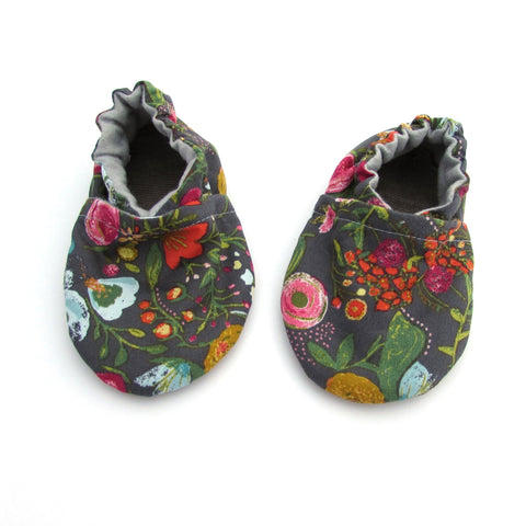 Fall Floral Baby Shoes