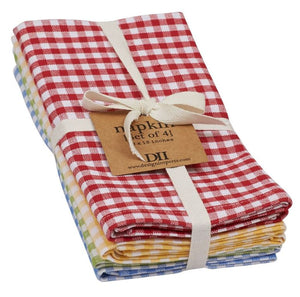 Farmhouse Check Napkin - Set of 4