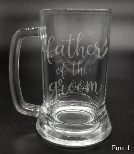 Father of the Groom - Etched Glass