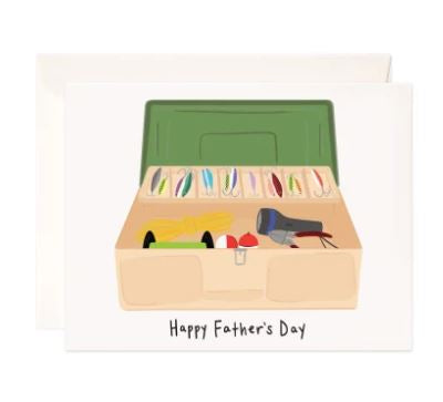 Father's Day Tackle Box Greeting Card