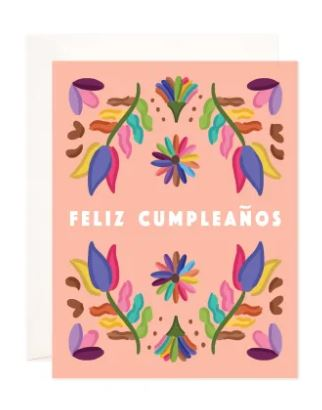 Folk Birthday Greeting Card