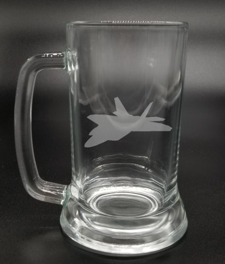 Fighter Jet - Etched Glass