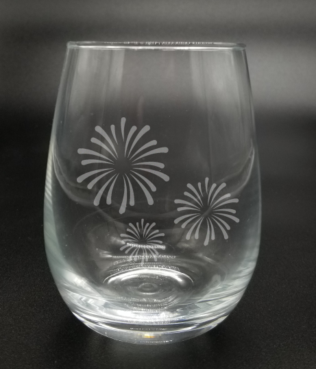 Fireworks - Etched Glass