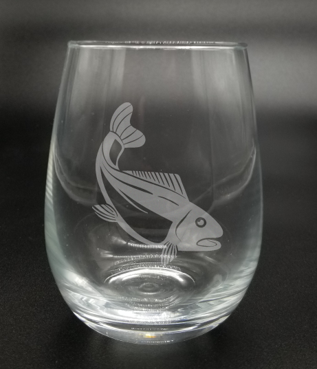 Trout Fish - Etched Glass