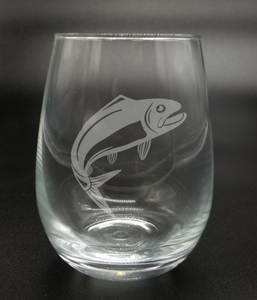 Salmon Fish - Etched Glass