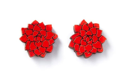 Flowers Studs - Red