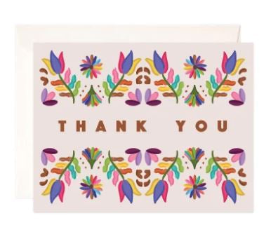 Folk Thank You Greeting Card
