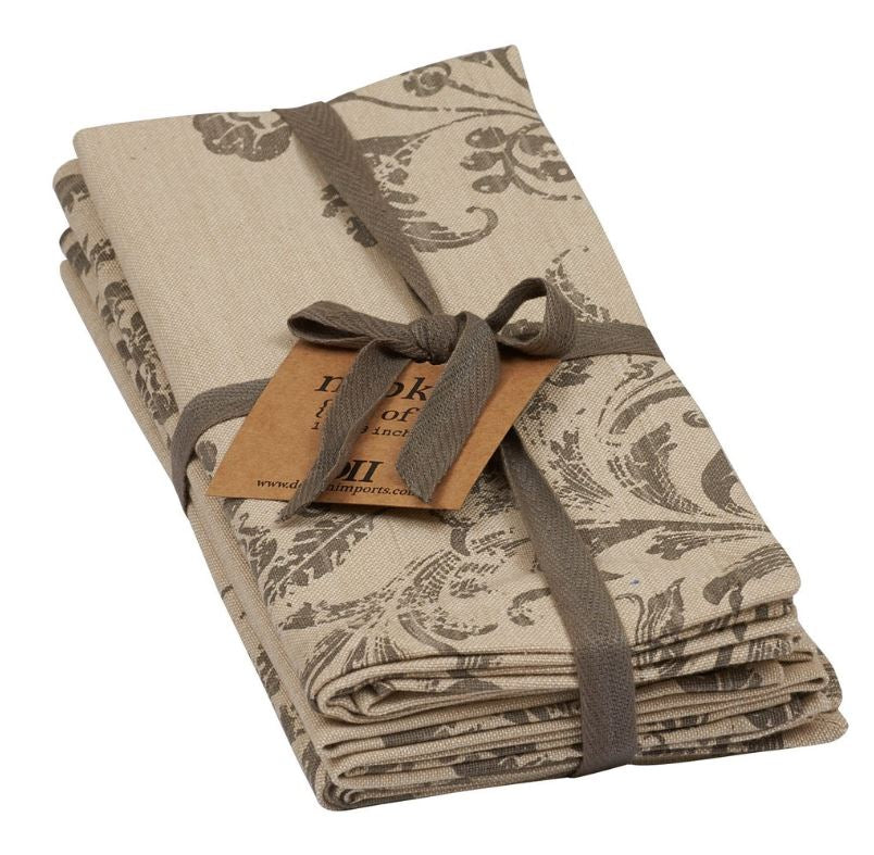 French Scroll Printed Napkin - Set of 4
