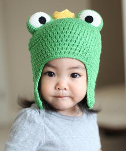 Frog Prince Crocheted Hat