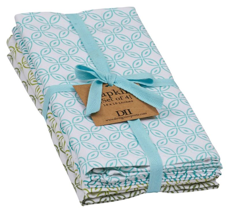 Garden Clover Printed Napkin - Set of 4