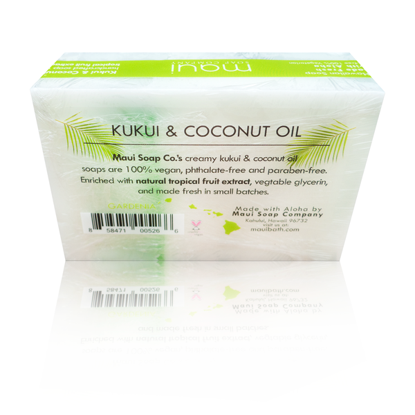 Kukui & Coconut Oil Soap - Gardenia