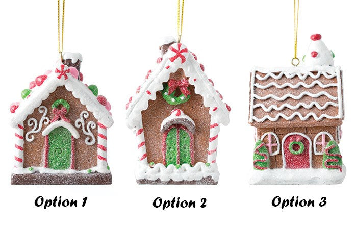 Resin Gingerbread House Ornament