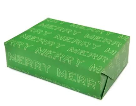Merry Typographical Gift Wrapping Paper Sheet