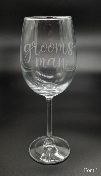 Groomsman - Etched Glass