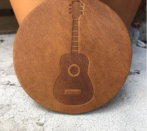 Guitar Leather Coaster