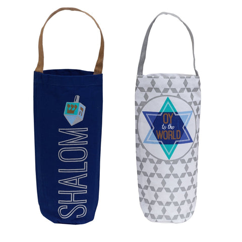 Hanukkah Bottle Totes