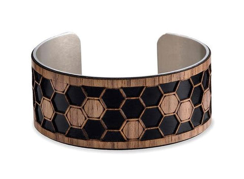 "Honeycomb Cuff - 1"" in Black"