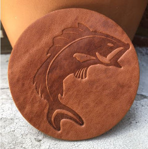 Jumping Fish Assorted Leather Coaster