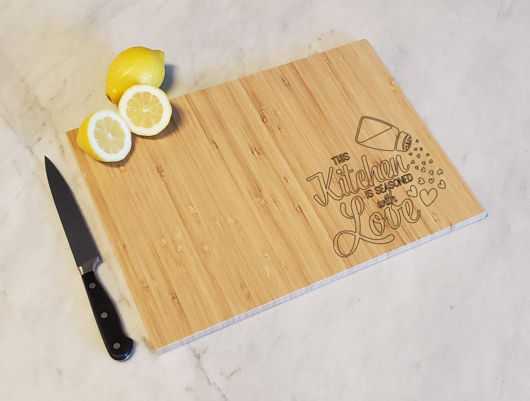 This Kitchen is Seasoned with Love - Bamboo Cutting Board