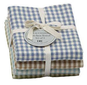 Lake House Checks Heavyweight Dishtowel - Set of 4