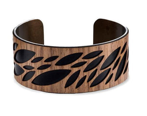 "Leaf Cuff - 1"" in Black"
