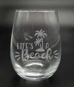 Life's a Beach - Etched Glass