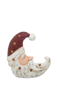 Light Up Moon Santa Hat Figurine
