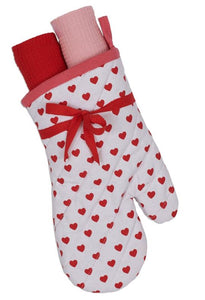 Lil Hearts Oven Mitt Gift Set