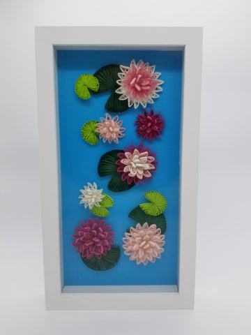 Quilled Lily Pads with White Frame