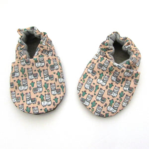 Llama Eco-Canvas Baby Shoes