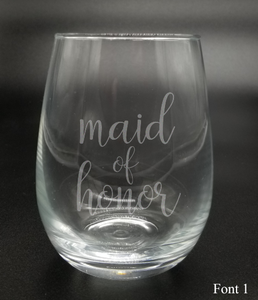 Maid of Honor - Etched Glass