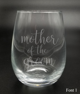 Mother of the Groom - Etched Glass