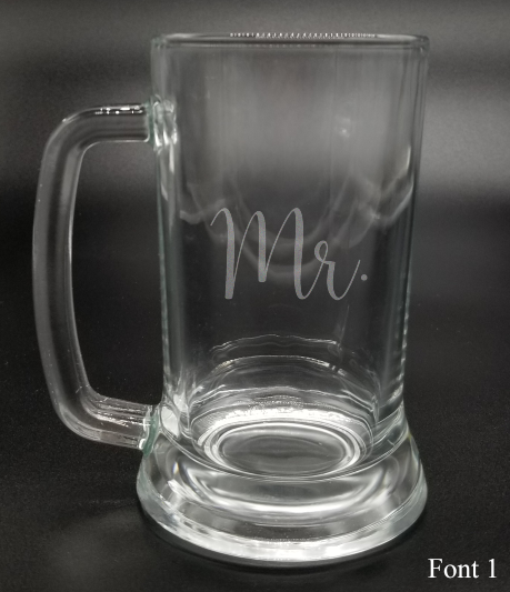 Mr. - Etched Glass