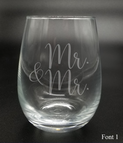 Mr. and Mr. - Etched Glass