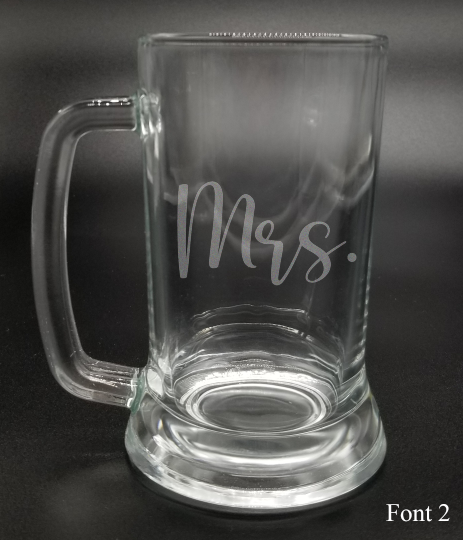 Mrs. - Etched Glass