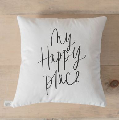 "18"" My Happy Place Pillow"