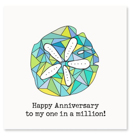 Happy Anniversary To My One In A Million! Greeting Card