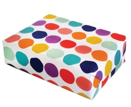 Roll of Rainbow Dot Gift Wrapping Sheets (3 Sheets)