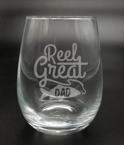 Reel Great Dad - Etched Glass
