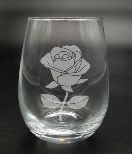 Rose - Etched Glass