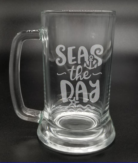 Seas the Day - Etched Glass