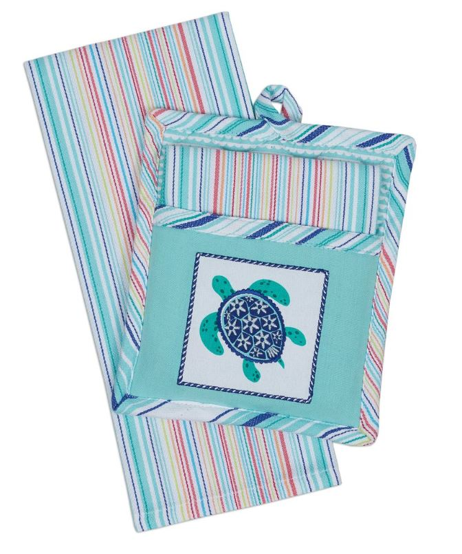 Sea Turtle Potholder Gift Set