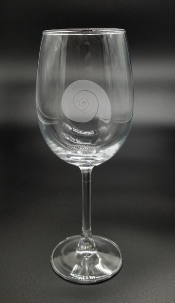 Shark's Eye Moon Shell - Etched Glass