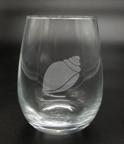 Dusky Cone Shell - Etched Glass
